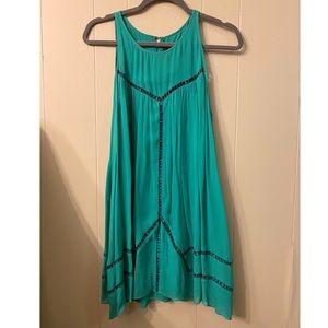 Anthropologie Summer Turquoise Dress